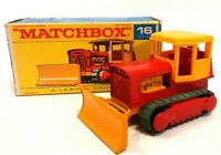 Vintage 1968 Matchbox 1-75 Series #16 Case Tractor Bulldozer New in Original Box