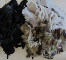 Gemischte Fellreste Lammfell Bekleidungsleder Bastelarbeiten 1kg