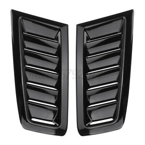 Universal  ABS bonnet vents Hood Trim Gloss Black For Ford Focus RS ST MK2 style