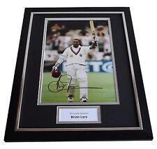 Brian Lara SIGNED FRAMED Photo Autograph 16x12 display West Indies Cricket AFTAL