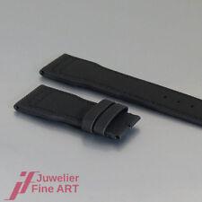 IWC Schaffhausen-Pelle-tessile-band - Military-BLACK - 21/18mm - mai usato!