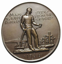 1936 Savegery Of War Society Of Medalists Medal #14 S.O.M. Medallic Art Co
