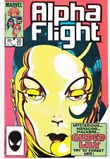 ALPHA FLIGHT  #20 1984 ''GOLD AND LOVE AFFAIRS''  BYRNE/ O'NEIL..FN/VF