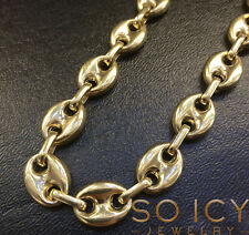 "26"" 12.5m 57 Gram 14k Yellow Gold Italy Anchor Mariner Gucci Chain Necklace Mens"
