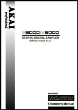 Akai S5000 / S6000 Stereo Digital Sampler Owner's Manual- Operating Instructions