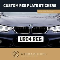 Front Stick On Number Plate Sticker For Caravan Trailer 4x4 Offroader Reg Plate