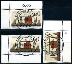 """Bund Eckrand """"Verden"""", 3 verschiedene Varianten, Formnummer 2, MiNr 1240"""