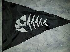 Custom Triangle JOLLY ROGER FISH Flag for  ATV Dirt Bike Dune Safety Flag