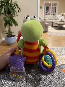 Lamaze Spike The Dino Dinosaur Sensory Developmental Activity Stroller Rattle
