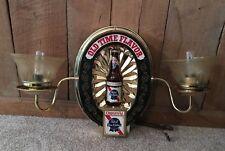 Vintage Pabst Blue Ribbon PBR Beer Old Time Flavor Light Lighted Sconce Sign