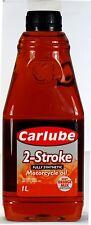 CARLUBE 2 STROKE FULLY SYNTHETIC MOTORCYCLE OIL 2T API TC+, JASO FC   - 1 ltr