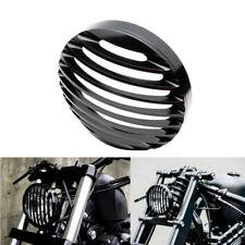 "5 3/4"" Black Headlight CNC Grill Bezel Cover For Harley XL Sportster 883 1200"