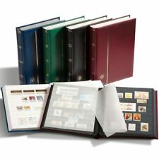 Lighthouse 341309 A4 Stock Book 32 White Pages Padded Cover Blue