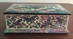Magnificent Lacquer And Mother Of Pearl Box