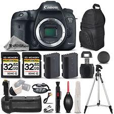 Canon EOS 7D Mark II DSLR Camera Body Only + Battery Grip + EXT BATT - 64GB KIT