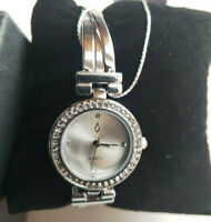 Nic & Syd Swarovski Crystals Bracelet Watch Womens Quartz Silver Tone NEW In Box