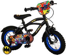 Kinderfahrrad Jungenfahrrad Batman 12 Zoll mit 2 Felgenbremsen und Stützrädern