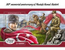 Sierra Leone 2018 MNH Mustafa Kemal Ataturk 1v S/S Horses Military Stamps