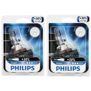 2 pc Philips Low Beam Headlight Bulbs for Ford C-Max EcoSport Edge Escape tx