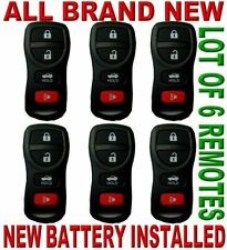 LOT OF 6 NEW REMOTE KEYLESS ENTRY REMOTE FOB TRANSMITTER CLICKER FOR NISAN 4BTS