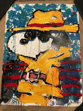 TOM EVERHART signed UNDERCOVER IN BEVERLY HILLS original litho Peanuts SNOOPY