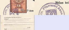 Kath. Pfarramt Absam Tirol mit Steuermarke 1 Schilling Trauungsschein
