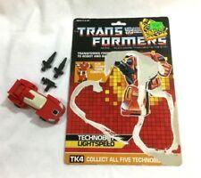 1987 G1 Transformers Technobots Computron Lightspeed Figure Complete Cardback