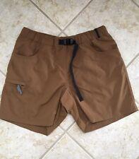 Ibex Shorts Organic Cotton Rust Brownish Khaki Zip Side Pocket Size M