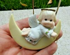 Ruth Morehead Holly Babes 1985 Angel on Half Moons with Falling Star Ornament