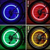 2X LED Llanta casquillo luz tapa de Neumático Tapones de válvula Bicicletas