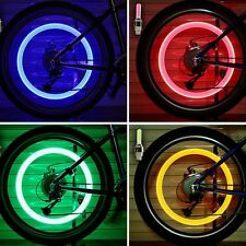 2X LED Flash Tyre Wheel Valve Cap Light For Car Bicycle Motorcycle Sport Goods