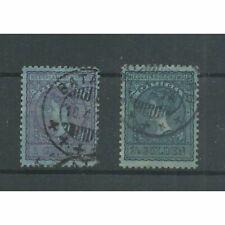 Ned. Indie 60B-61B  Wilhelmina VFU/gebr  CV 60 €