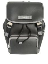 Michael Kors Mens Cooper Leather Backpack -black