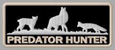 "PREDATOR HUNTER EMBROIDERED PATCH ~3-7/8"" x 1-1/2"" WOLF PELT SKIN LYNX COYOTE"