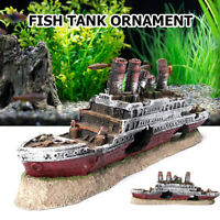 Aquarium Schiff Deko Wrack Boot Aquarium Höhle Harz Dekoration