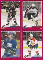 03-04 Topps Traded Nathan Smith /100 Rookie RED Parallel Canucks 2003