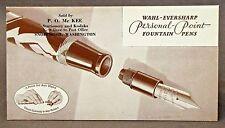 WAHL-EVERSHARP FOUNTAIN PENS advertising ink blotter SNOHOMISH WASH unused *