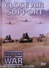 WEAPONS OF WAR - Close Air Support DVD + BOOK WORLD WAR TWO WWII BRAND NEW R0