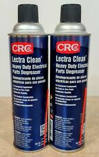 (2) CRC Lectra Clean Heavy Duty Electrical Parts Degreaser 19oz Cans - 1003177