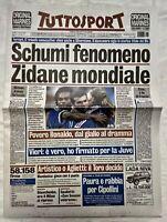 TUTTOSPORT 13 LUGLIO 1998 SCHUMACHER FRANCIA CAMPIONI DEL MONDO FERRARI ZIDANE