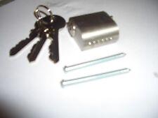 Scandinavian ESTERNO OVALE cilindro di chiusura serratura Assa-Ruko 6 PIN ANTI TRAPANO in raso
