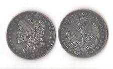 Novelty Fantasy Coin 1897 Morgan Dollar With Skull Head Skeleton Eagle Zombie