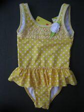 Penelope Mack Little Girls Yellow White Dot One Piece Swimsuit 2T