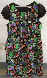 Nicola Finetti Designer, Peplum Dress Size 16, BNWT, Multicoloured, Amazing!