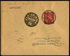 """Lot N°8689a France N°412 Obl cachet de Fortune """"AIX EN OTHE"""" s/pli pr PORNICHET"""