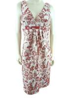 Carmen Marc Valvo 14 Rust Red Floral Jacquard Embroidered Sheath Dress NEW 535