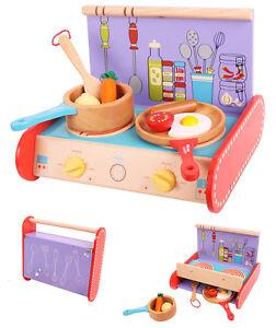 Bigjigs Cucina Fornello bambina portatile legno BJ446 Portable cooker Cuiseur