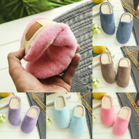 Women Mute Soft Sole Suede Slippers Coral Velvet Girls Home Non-slip Casual Warm