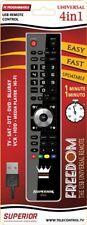 Telecomando Universale 4 in 1 per TV-SKY -BLURAY -DVD -VCR -HIFI - MEDIA PLAYER.