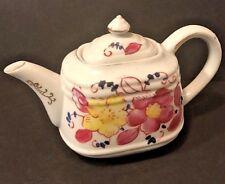 Vtg Arnart 5th Avenue Porcelain Hand Painted Floral Teapot #2061 Gold Accents